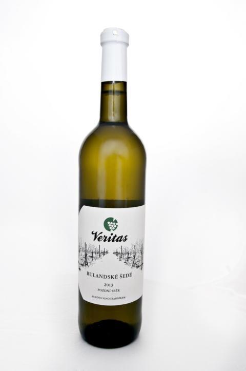 Víno bílé Rulandské bílé VERITAS - jakostní BIO 750ml