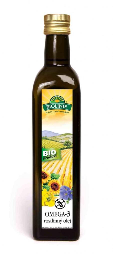 Olej rostlinný omega-3 BIOLINIE 500ml