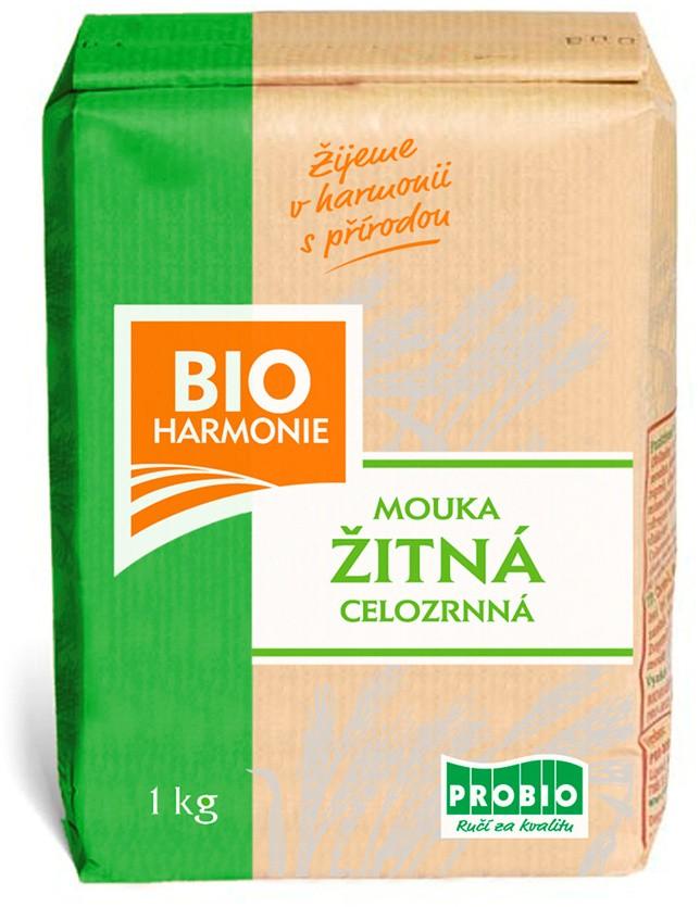 Celozrnná mouka žitná (jemně mletá) BIOHARMONIE 1kg
