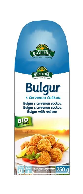 Bulgur s červenou čočkou BIOLINIE 210g