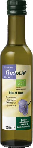 Olej lněný CRUDOLIO lisovaný za studena 250ml