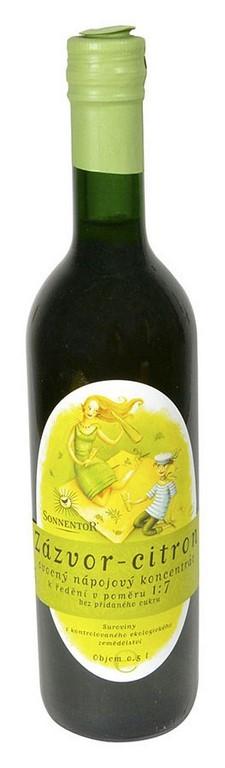 Sirup zázvor - citron SONNENTOR 500ml