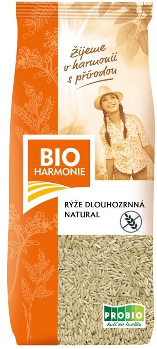 Rýže dlouhozrnná natural BIOHARMONIE 500g
