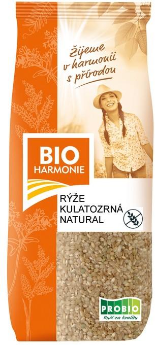 Rýže kulatozrnná natural BIOHARMONIE 500g
