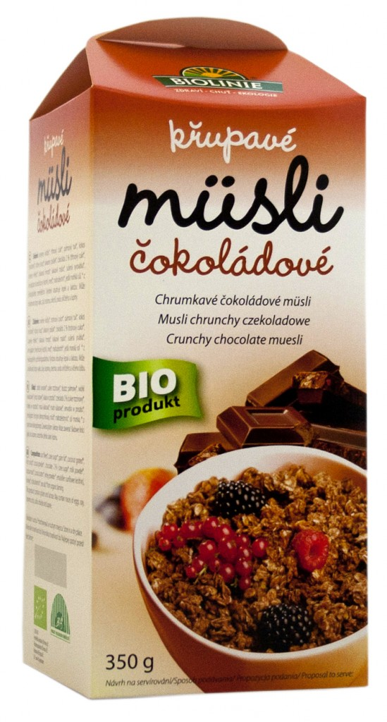 Müsli křupavé čokoládové BIOLINIE 350g