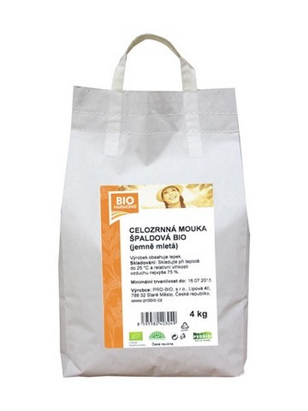 Špaldová mouka celozrnná jemně mletá 4 kg BIOHARMONIE