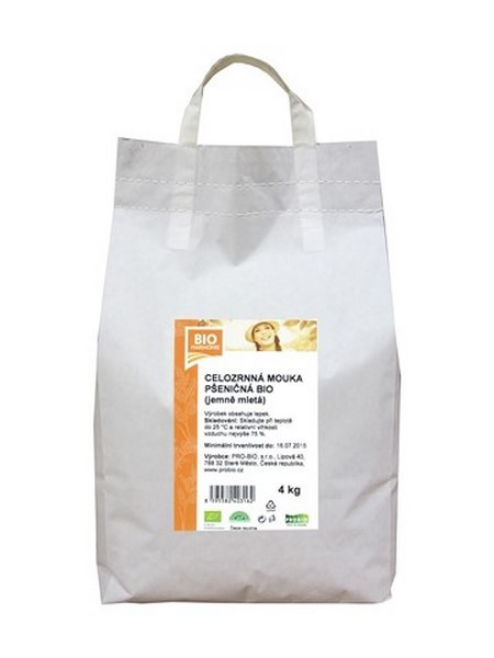 Pšeničná mouka celozrnná jemně mletá 4 kg BIOHARMONIE