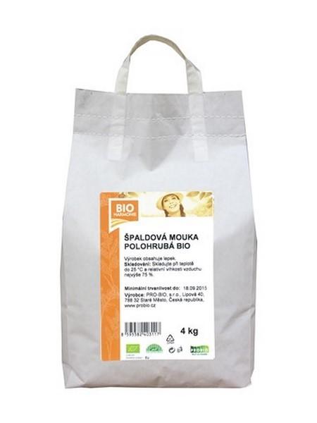 Špaldová mouka bílá polohrubá 4 kg BIOHARMONIE