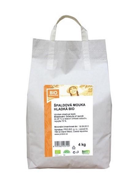 Špaldová mouka bílá hladká 4 kg BIOHARMONIE