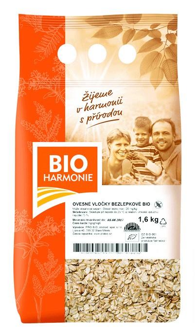 Ovesné vločky bezlepkové 1,6 kg BIOHARMONIE
