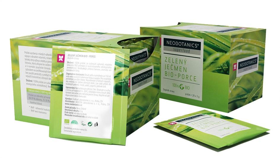 Zelený ječmen BIO - porcovaný 60g