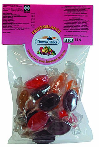 Bonbóny ovocné Dharma Candies 75g