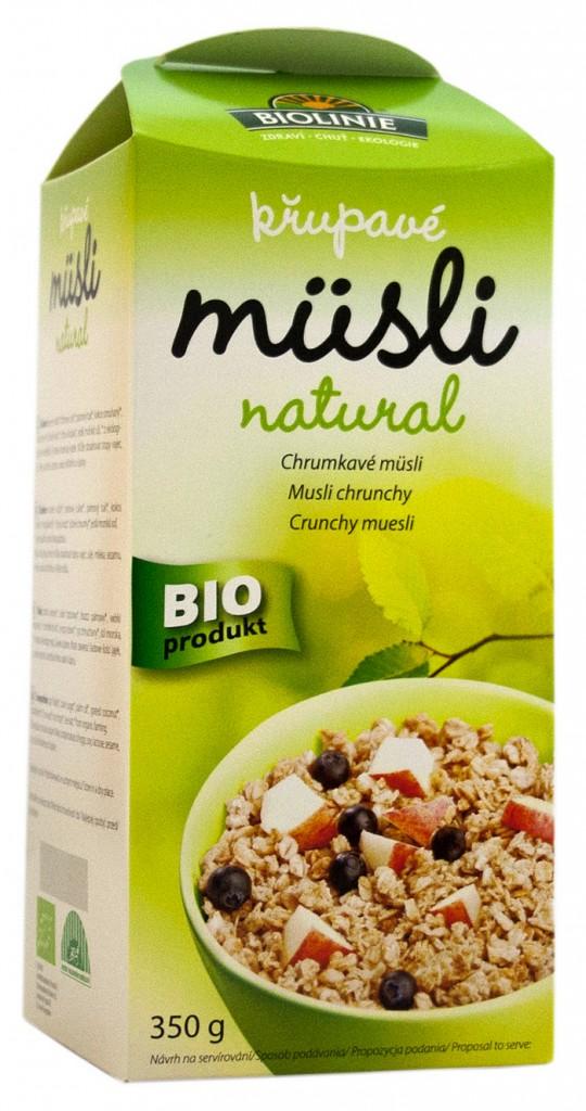 Křupavé müsli natural BIOLINIE 350g