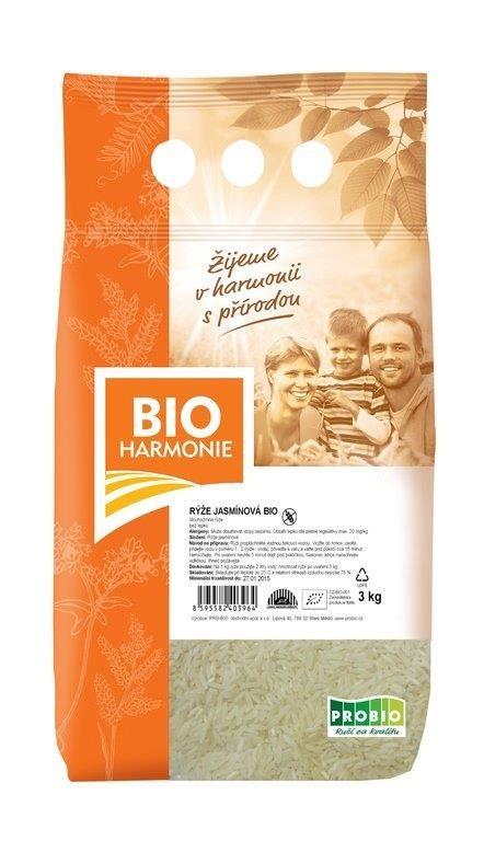 Rýže Jasmínová BIOHARMONIE 3kg