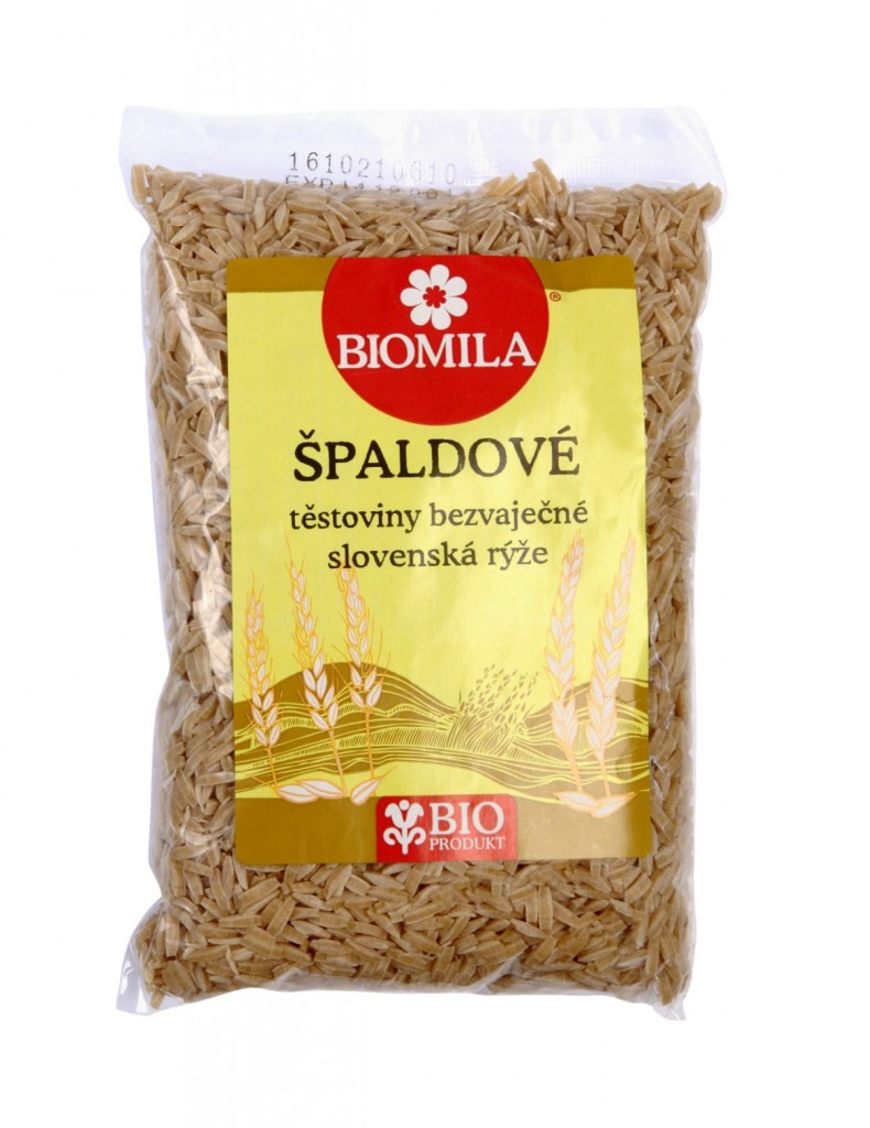 Slovenská rýže (špaldové bílé těstoviny) BIOMILA 400g