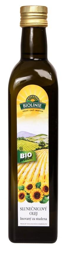 Olej slunečnicový BIOLINIE lisovaný za studena 500ml