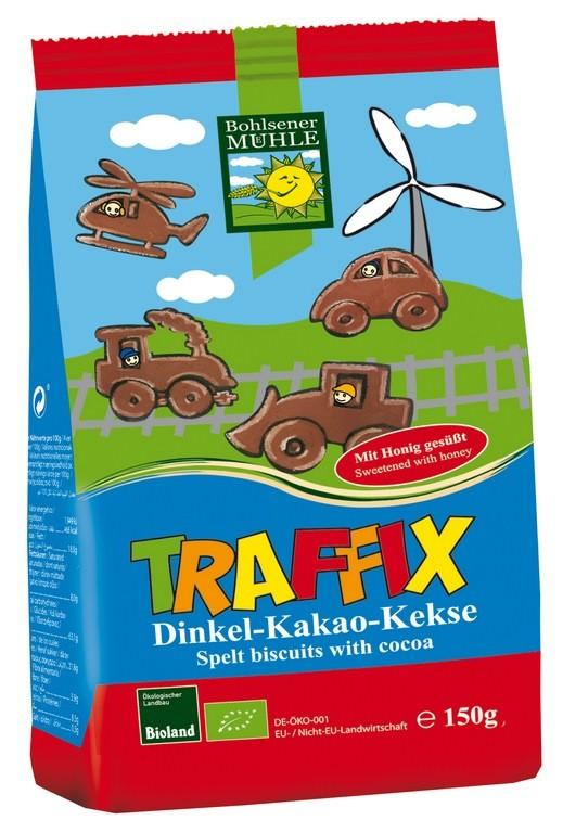 Špaldovo – čokoládové keksy pro děti AUTÍČKA Bohlsener 150g
